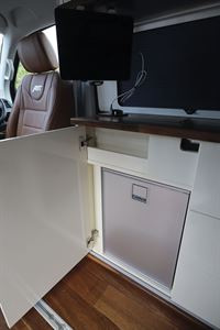 The fridge in the Knights Custom Prestige Tourer campervan