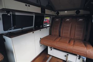 Rear seats in the Knights Custom Prestige Tourer campervan