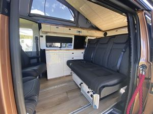 The interior of the Knights Custom Prestige Tourer campervan