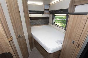 The bed in the Swift Kon-tiki Sport 560 motorhome