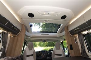The panoramic sunroof in the Swift Kon-tiki Sport 560 motorhome