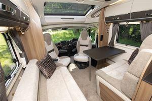 Lounge seating in the Swift Kon-tiki Sport 560 motorhome