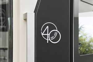 The special edition 40th anniversary logo