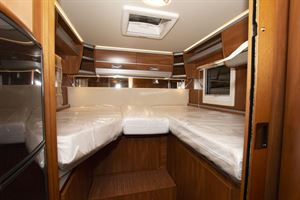 Beds in the Laika Ecovip 609 motorhome