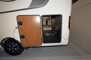The garage in the Laika Ecovip 609 motorhome