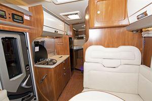 The interior of the Laika Ecovip 609 motorhome