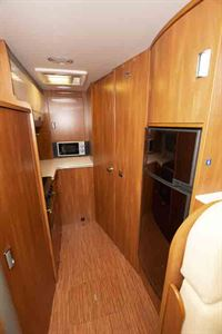 View down the motorhome towards the kitchen © Warners Group Publications