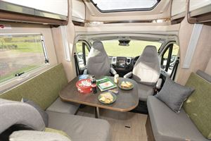 The lounge area in the Laika Ecovip L 3019 motorhome
