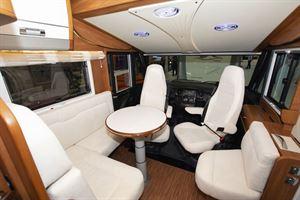 The lounge in the Laika Ecovip 609 motorhome