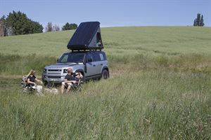 Land Rover has teamed up with Autohome to develop a bespoke roof tent for the new Defender 110