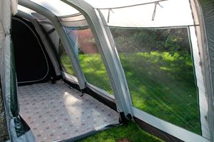 Large windows are a feature of the Berghaus Telstar 8 tent