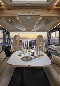 The front lounge in the Le Voyageur 7.8 GJF