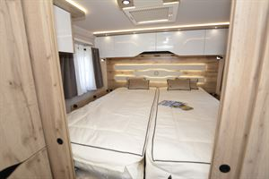 The bed in the Le Voyageur LV8.5GJF 40th Anniversary edition