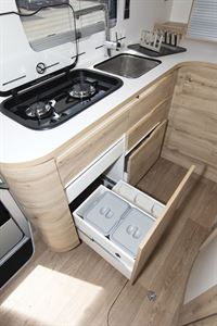 Drawer storage in Le Voyageur Classic LV6.8LF