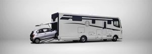 Le Voyageur's Atego-based LIner 12T has a car garage as standard