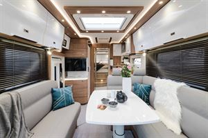 The interior of Le Voyageur's new LIner 12T based on the Mercedes Atego