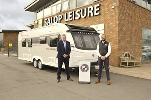 Mike Harris of Salop Leisure with Ben Parkin of Coachman