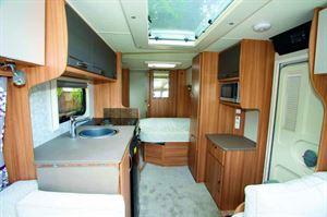 The Lexon 560's kitchen space