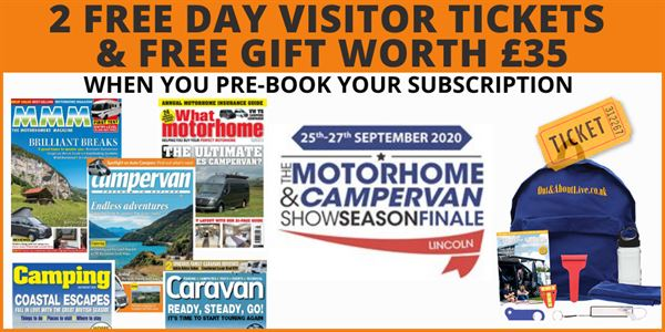 Pre-book your subscription for The Motorhome & Campervan Show Season Finale