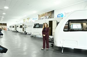 MD Lisa Pluves in the new showroom