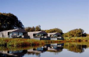 Lodges by the lake at Retallack Resort and Spa
