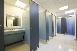 The award-winning toilet and washing facilities at Ludlow Touring Park