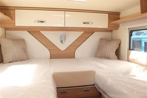 The twin single beds - picture courtesy of Chelston Motorhomes
