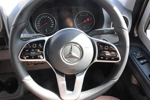 The multi-functional steering wheel - picture courtesy of Chelston Motorhomes