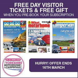 Free ticket to The Yorkshire Motorhome & Campervan Show