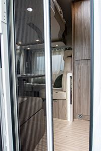 The flyscreen in the Benimar Mileo 202 motorhome