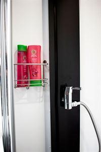 The shower in the Benimar Mileo 202 motorhome