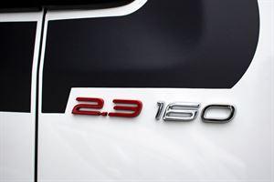 Engine detail in the Benimar Mileo 202 motorhome
