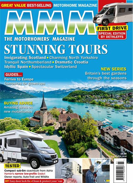 d5baad5fc9 Here s a sneak video preview of what s in the March 2018 issue of MMM  magazine – Britain s best-selling motorhome magazine – which goes on sale  in the shops ...