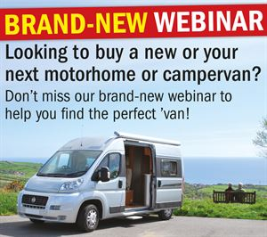 Live motorhome webinars start on April 18