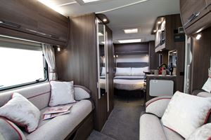 View from the front to rear of the Marquis Majestic 250 motorhome