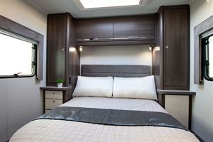 The island bed in the Marquis Majestic 250 motorhome