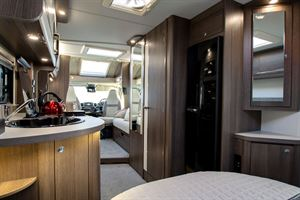 View from the bedroom in the Marquis Majestic 250 motorhome