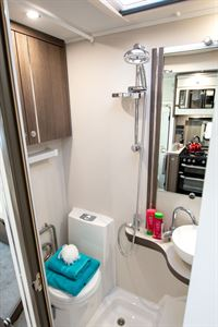 The washroom in the Marquis Majestic 250 motorhome