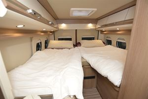 The beds in the he Malibu Van Charming GT