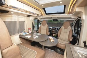 The interior of the he Malibu Van Charming GT