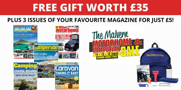 Subscribe to one of five great magazines at the Malvern Motorhome and Campervan Sale