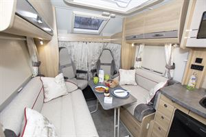 The lounge in the Elddis Marquis Majestic 185 motorhome