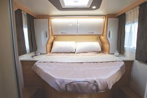 The double island bed in the McLouis 367 motorhome