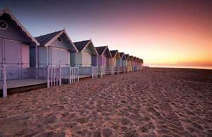 Mersea beach huts. Photo: Alamy