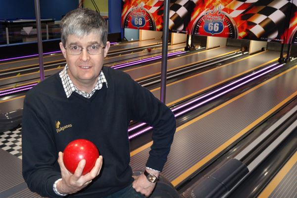 Michael Holgate at Silverdale's bowling alley