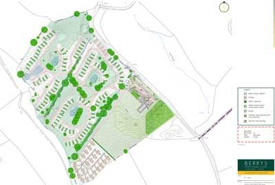 A site plan for the new luxury holiday park development