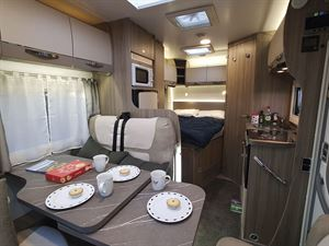 A view of the interior in the Benimar Mileo 231 motorhome