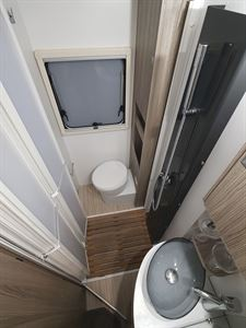 The washroom in the Benimar Mileo 231 motorhome