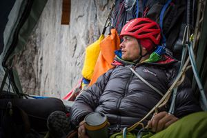 Leo Houlding on the Mirror Wall