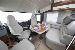 The front lounge in the Mobilvetta K-Yacht  - picture courtesy of Marquis